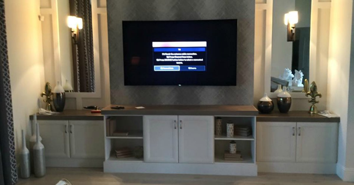 mounted tv installation