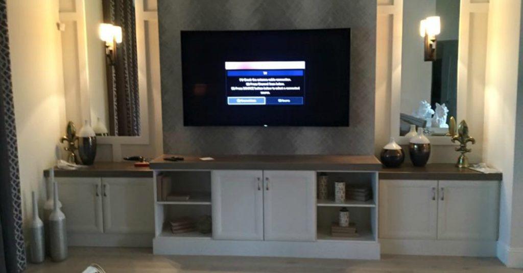 mounted tv installation