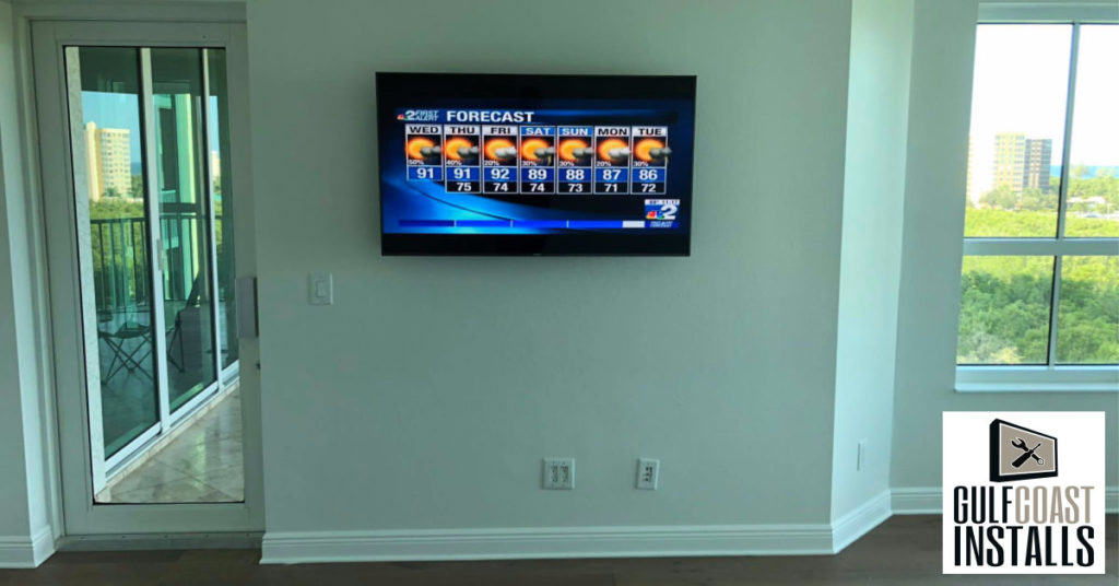 TV on the wall installation